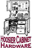 Hoosier style kitchen cabinet hardware, knobs, pulls, latches, bread drawers, flour bins