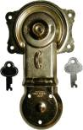 Various size trunk locks, brass plated
