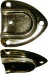 Cap style brass plated handle loop